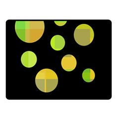 Green abstract circles Double Sided Fleece Blanket (Small)