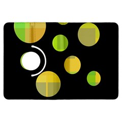 Green abstract circles Kindle Fire HDX Flip 360 Case