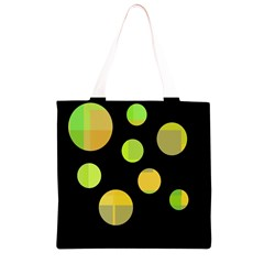 Green abstract circles Grocery Light Tote Bag