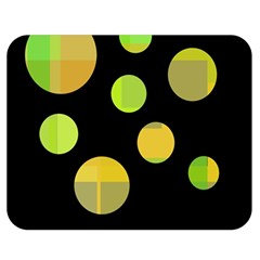 Green abstract circles Double Sided Flano Blanket (Medium)