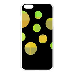 Green abstract circles Apple Seamless iPhone 6 Plus/6S Plus Case (Transparent)