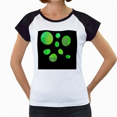 Green circles Women s Cap Sleeve T