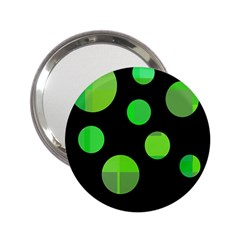 Green circles 2.25  Handbag Mirrors