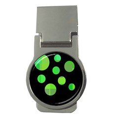 Green circles Money Clips (Round)