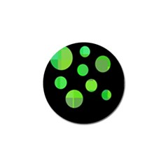 Green circles Golf Ball Marker