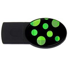 Green circles USB Flash Drive Oval (2 GB)