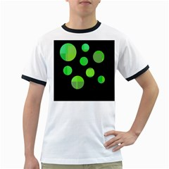 Green circles Ringer T-Shirts