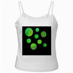 Green circles Ladies Camisoles