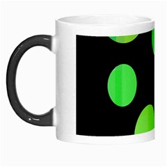 Green circles Morph Mugs