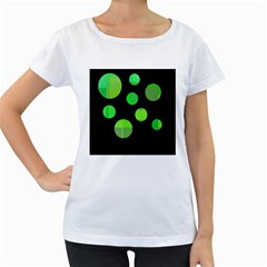 Green circles Women s Loose-Fit T-Shirt (White)
