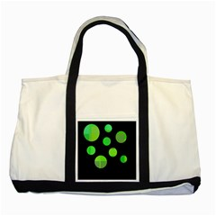 Green circles Two Tone Tote Bag