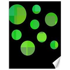 Green circles Canvas 12  x 16