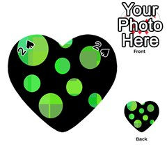 Green circles Playing Cards 54 (Heart)