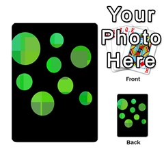 Green circles Multi-purpose Cards (Rectangle)