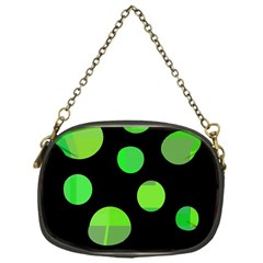 Green circles Chain Purses (One Side)