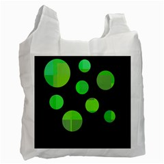 Green circles Recycle Bag (Two Side)