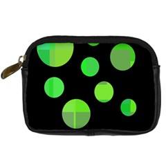Green circles Digital Camera Cases