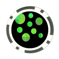 Green circles Poker Chip Card Guards (10 pack)