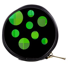 Green circles Mini Makeup Bags
