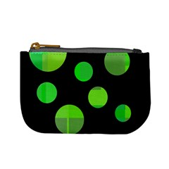 Green circles Mini Coin Purses