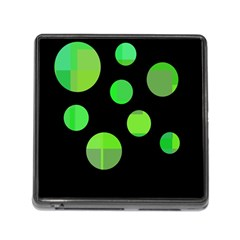 Green circles Memory Card Reader (Square)