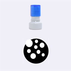Green circles Rubber Round Stamps (Small)