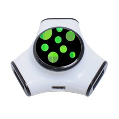 Green circles 3-Port USB Hub