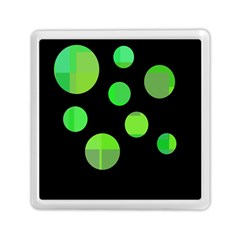 Green circles Memory Card Reader (Square)