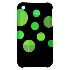 Green circles Apple iPhone 3G/3GS Hardshell Case