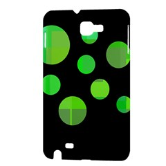 Green circles Samsung Galaxy Note 1 Hardshell Case