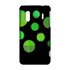 Green circles HTC Evo Design 4G/ Hero S Hardshell Case