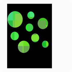 Green circles Small Garden Flag (Two Sides)