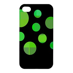 Green circles Apple iPhone 4/4S Premium Hardshell Case