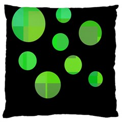 Green circles Large Cushion Case (Two Sides)
