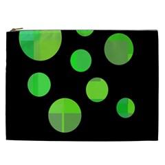 Green circles Cosmetic Bag (XXL)