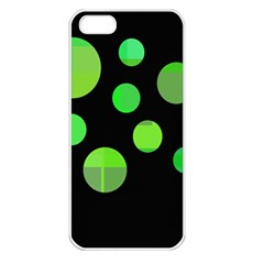 Green circles Apple iPhone 5 Seamless Case (White)