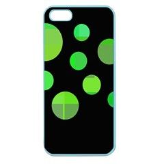 Green circles Apple Seamless iPhone 5 Case (Color)
