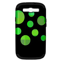 Green Circles Samsung Galaxy S Iii Hardshell Case (pc+silicone)