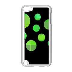 Green circles Apple iPod Touch 5 Case (White)