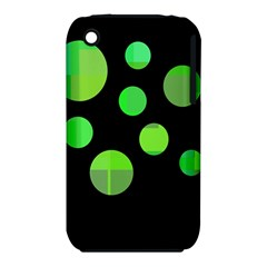 Green circles Apple iPhone 3G/3GS Hardshell Case (PC+Silicone)