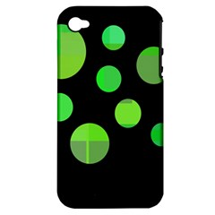 Green circles Apple iPhone 4/4S Hardshell Case (PC+Silicone)