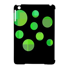 Green circles Apple iPad Mini Hardshell Case (Compatible with Smart Cover)