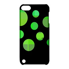 Green circles Apple iPod Touch 5 Hardshell Case with Stand