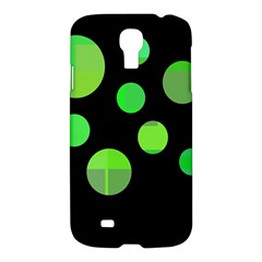 Green circles Samsung Galaxy S4 I9500/I9505 Hardshell Case