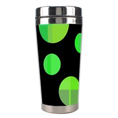 Green circles Stainless Steel Travel Tumblers