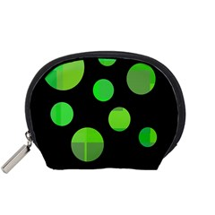 Green circles Accessory Pouches (Small)