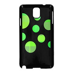 Green circles Samsung Galaxy Note 3 Neo Hardshell Case (Black)