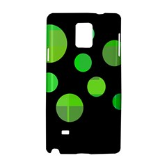 Green circles Samsung Galaxy Note 4 Hardshell Case