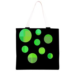 Green circles Grocery Light Tote Bag