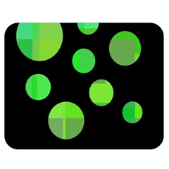 Green circles Double Sided Flano Blanket (Medium)